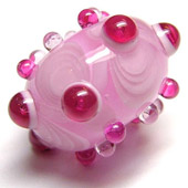 pink candy bead by beadsbylaura