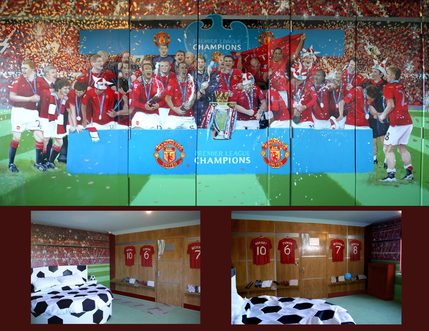 Superb Football Murals Grasscloth Wallpaper. Champions Football Stars Home Wall  Stickerremovable Kids ... Home Design Ideas