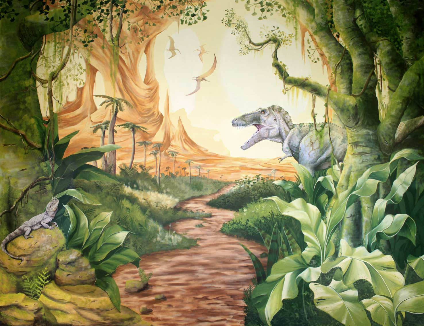 Trending Jungle Wall Mural Patio Design 914