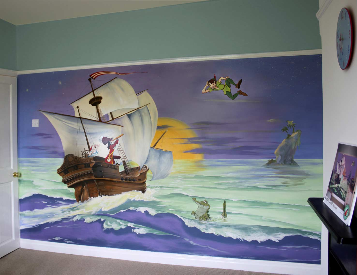 peter pan wall mural images color faux wall faux finishes amp murals 187 childrens murals