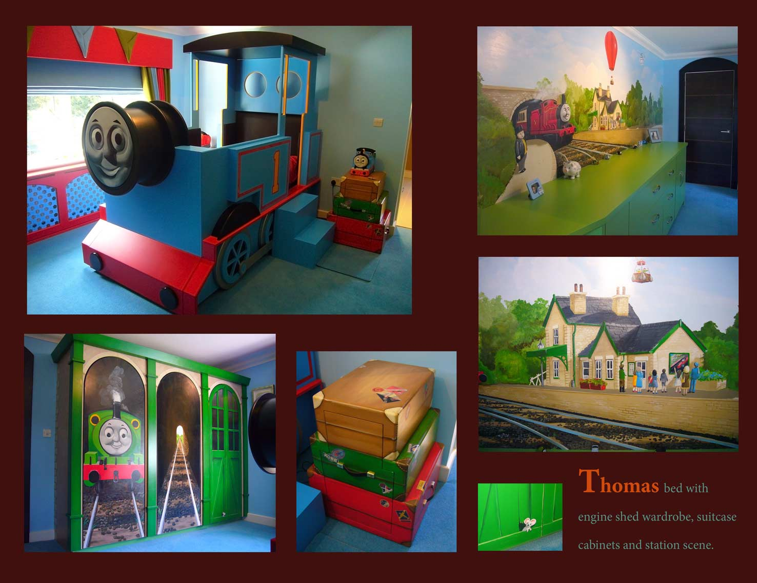 Superior Thomas The Tank Engine Wall Mural Mural Portfolio Home Design Ideas
